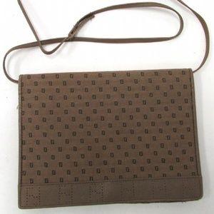 Authentic Fendi Light Brown Canvas Shoulder Bag